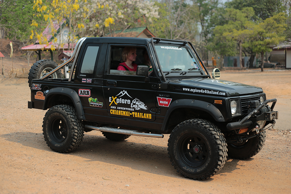 Our 4x4 offroad vehicles that we use in Chiang Mai.